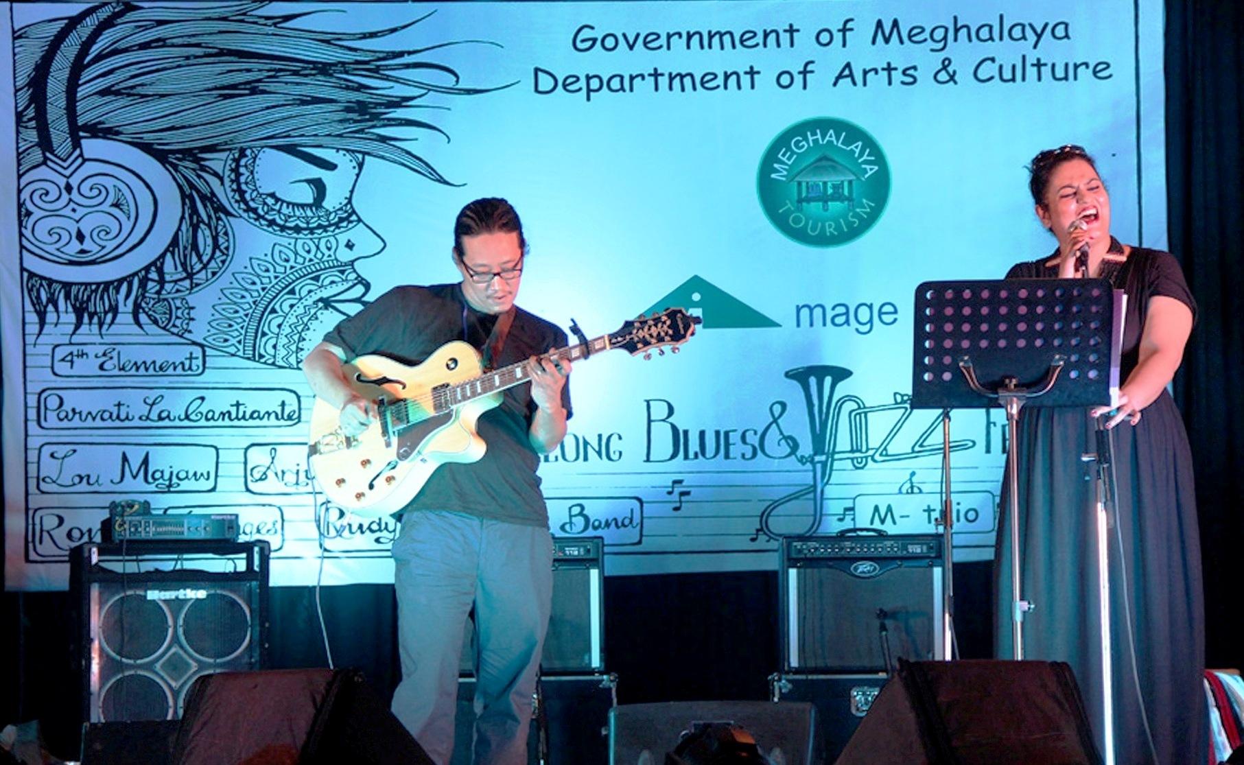 Parvati La Cantante from Delhi performing at Shillong Blues & Jazz Festival 2014