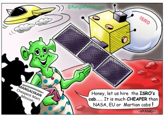 Mangalyaan - Cheapest Mars Mission - Cartoon