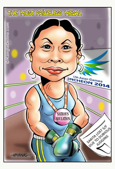 SaritaAsianGames2014Cartoon