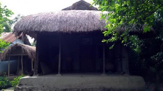 Figure 1. Photo showing a typical Manipuri Yumjao located at the Mutua Bahadur Museum at Andro, Manipur. (Photo courtesy: Khwairakpam Gajananda).