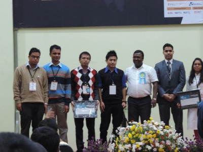 Team Kumhei receives Certificate of Recognition in 5th eNortheast Award 2014, Aizawl, Mizoram