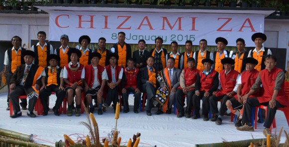 Chizami Za celebration picture. Chakhesang Tribe of Nagaland