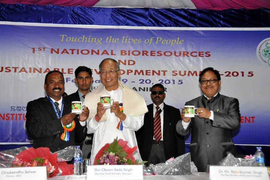 """Chief Minister Okram Ibobi Singh launched """"Save Sangai Campaign"""" as well as """"Save Siroi Lily Campaign"""" the idea conceived by Prof. Dinabandhu Sahoo, Director, IBSD, Imphal during the inaugural function of 1st National Bioresources and Sustainable Developm"""