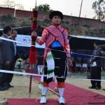Thaovi V in traditional attires. Fecilitation of Thaovi V -Gold Medalist  World Martial Arts Council Games Bangkok