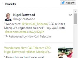 Nigel Tweet about Manipur