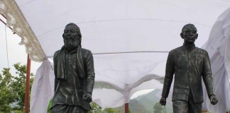 The second Twin Statues of Love, Peace and Fraternity unvieled at Hongmahn Tangkhul Village, Senapati district.