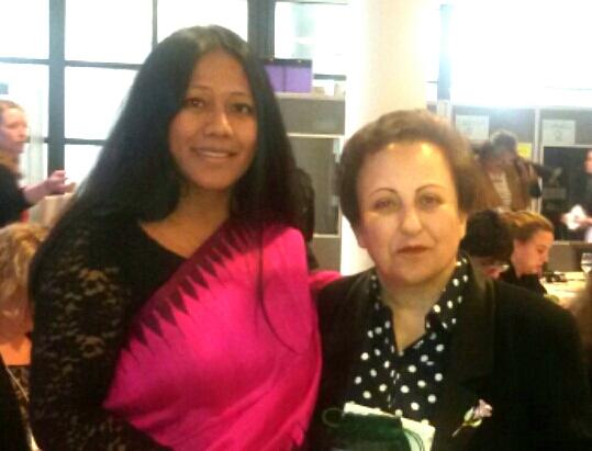 Binalakshmi Nepram with Nobel Laureate Shirin Ibadi
