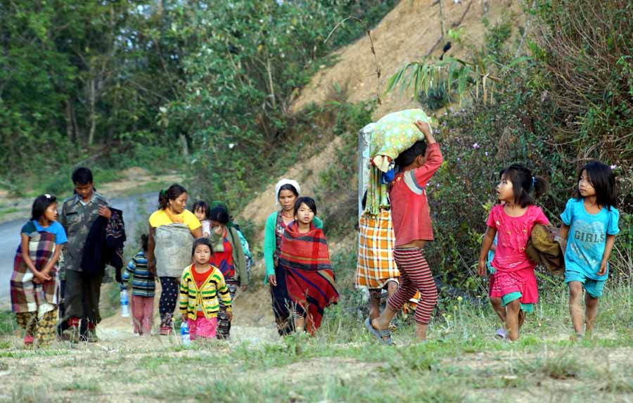 Villagers of Sehao flee homes after KNLF unleashed violence in Manipur