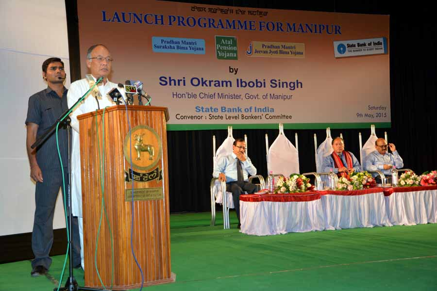 CM Ibobi addressing during the launching function.