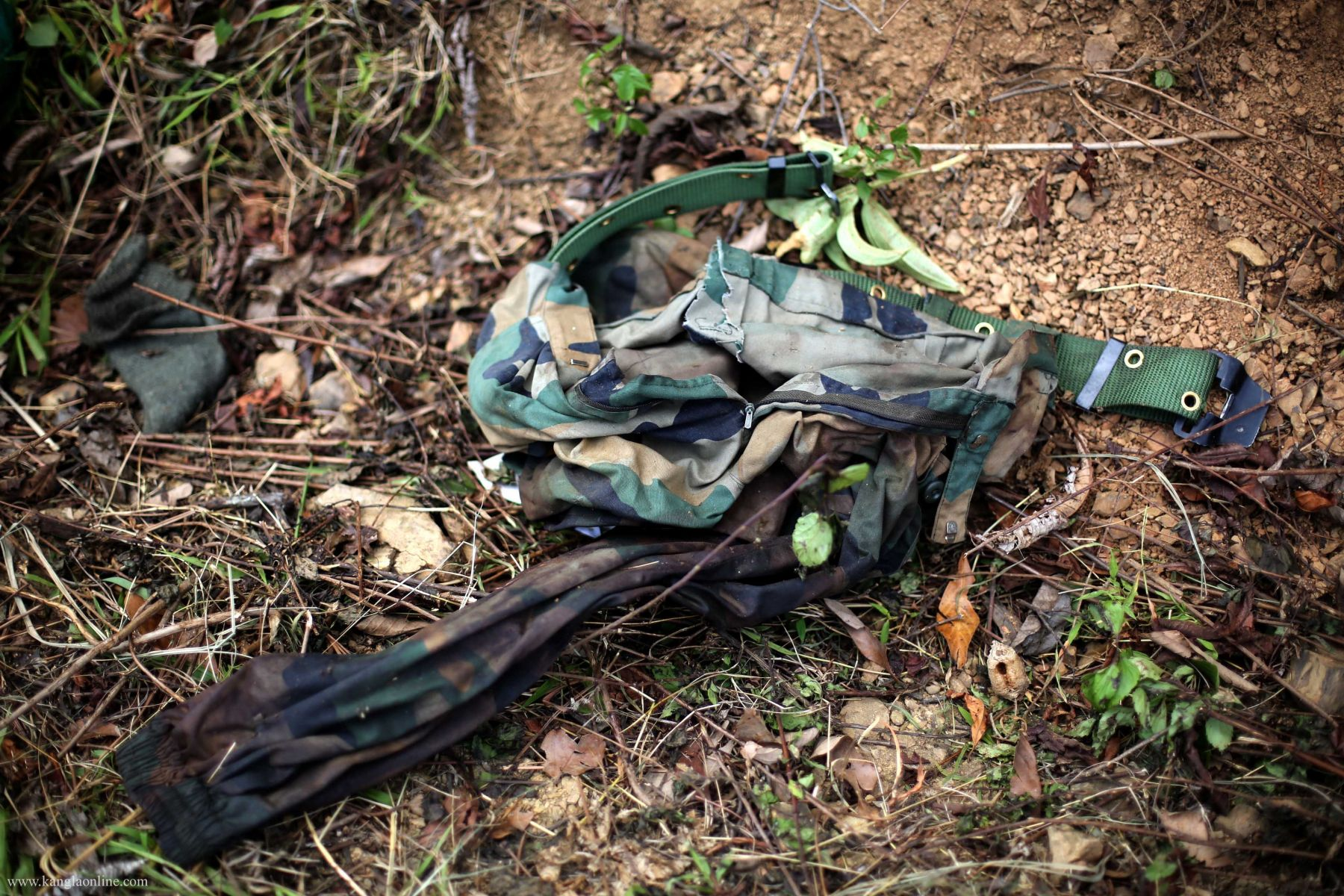 Uniform  of one of the deceased Indian Army at Paraolon, Chandel District, Manipur. photo by Deepak Shijagurumayum.