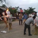Manipur ILP Demand - Jiribam: Burning Effigies
