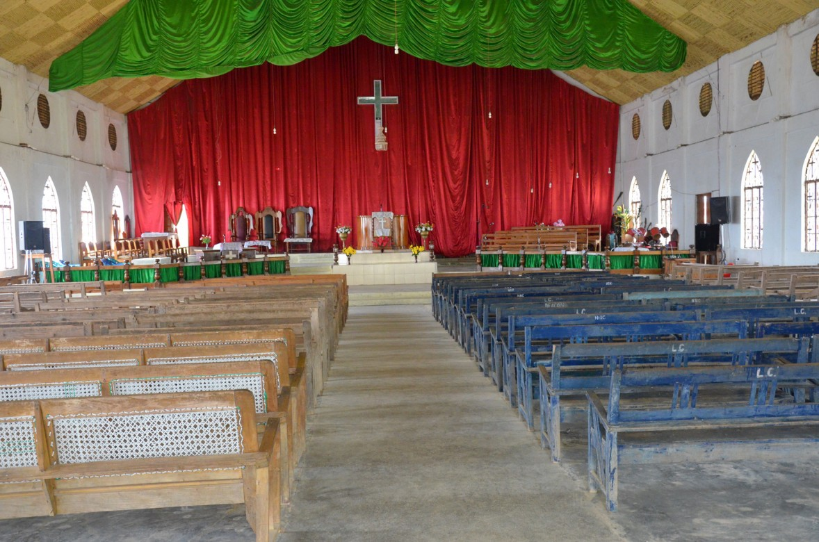 Ngainga church interior. Photo- Chingtham Balbir Khuman
