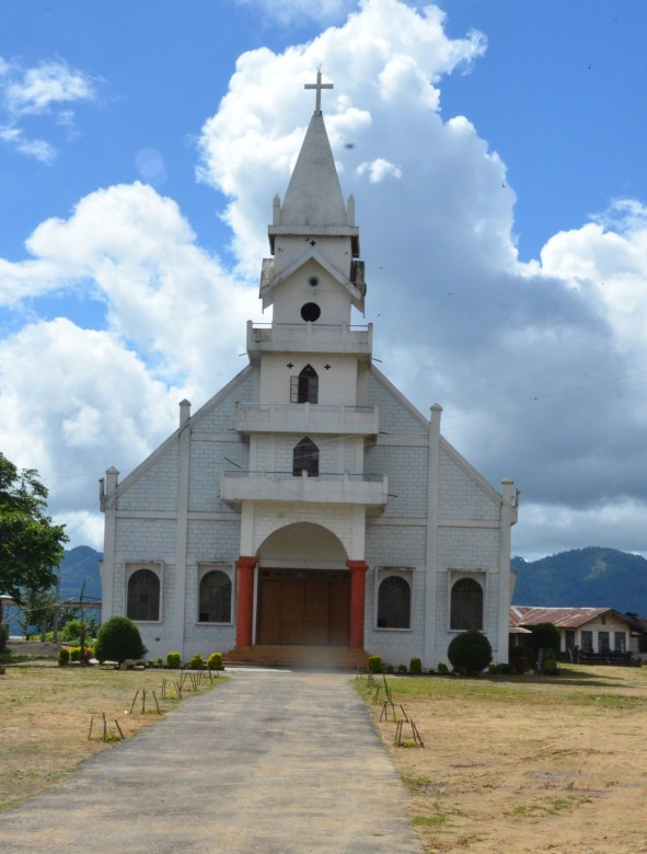 Ngainga Babtist Church. Photo- Chingtham Balbir Khuman