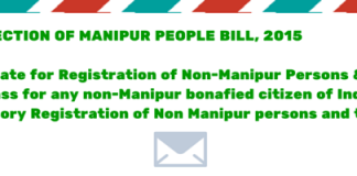 THE PROTECTION OF MANIPUR PEOPLE BILL, 2015