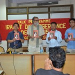 """MSAD organised """"Irabot Day Observance Talk Programme"""" at the Department of Political Science, Delhi University (North Campus). Photo : MSAD"""