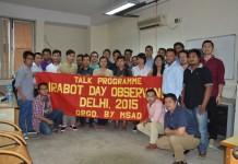 MSAD Irabot day talk, DU political science department