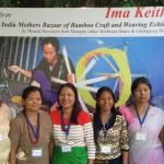 Ms Binalakshmi Nepram with Women Artisans