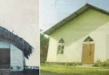 Earlier thatched Church of Rongphar Baptist Church (RBC), and now RCC Church at Rongphar Village