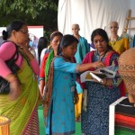 Women Weaving Peace Together: Ima Keithel - A Northeast India Women Mother's Bazaar of Bamboo Craft and Weaving Exhibition held at Delhi. Photo: CAF, India