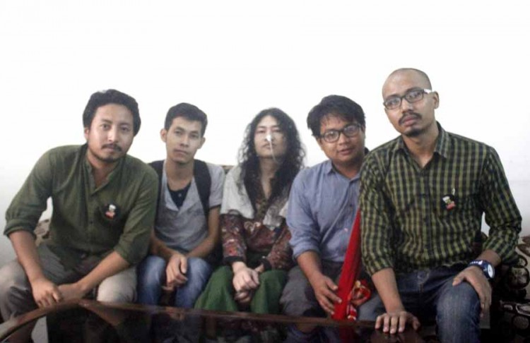 NEFIS activists with Irom Chanu Sharmila.