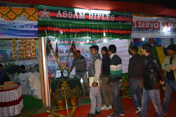 An Assam Rifles pavilion in the ongoing Sangai festival 2015 (3)