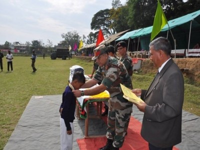 Assam Rifles Middle School, Thoubal celebrated its Annual Sports Meet at Chaoyaima Higher Secondary School at Thoubal Ground (6)
