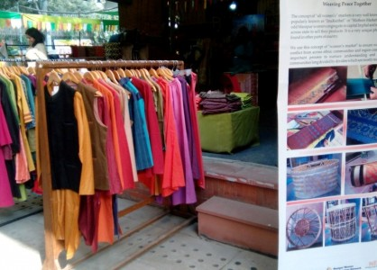 Manipur Women Weavers Products at Nature Bazaar- Photo by CAFI