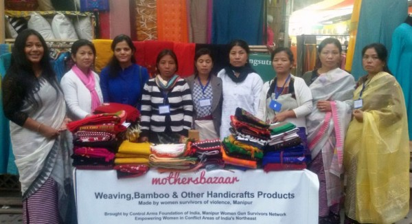 Women Weavers of Manipur at Nature Bazaar- Photo by CAFI