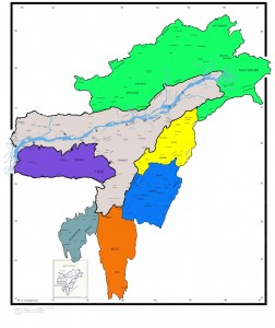 north eastern states of India