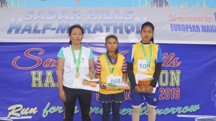 Girls Winners: first is Neiboikim from Haijang . Second is Nengchin from Kaggui. Third is Hoineilhing from Haijang