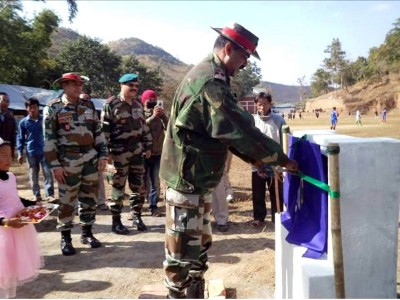 Newly constructed volleyball ground inaugurated by 2 Assam Rifles_800x600