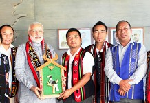Naga students Federation members with Narendar Mod Prime Ministerof India