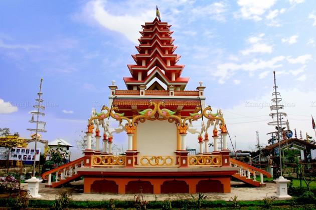 Ebudhou Pakhanba Temple at MMRC Park Khangabok - Daytime - Back side View