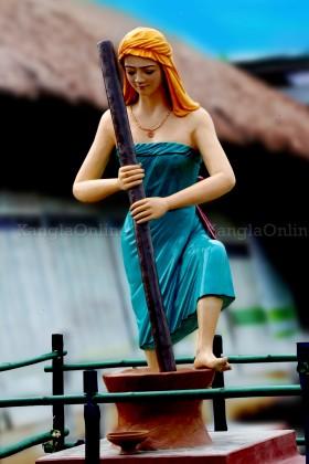 "Sculpture Representing ""Phou shubi"" at MMRC Park Khangabok Manipur"