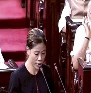 Boxer Mary Kom takes oath as a Member of the Rajya Sabha