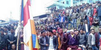 Tawang Protesters against Dam: Save Mon Region Federation (SMRF) Arunachal Pradesh