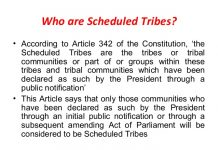 Who are considered Scheduled Tribe ST