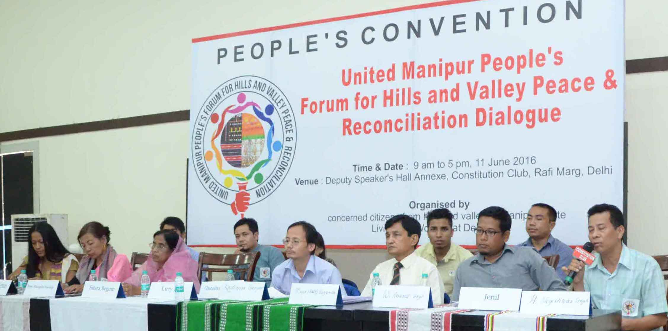 Historic Manipur People's Convention For A United Hills and Valley Peace & Reconciliation Dialogue