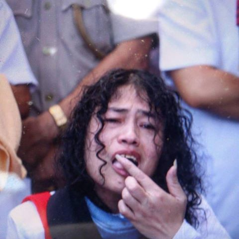 Irom Chanu ‪‎Sharmila breaks her 16 years fasting on 9th Aug 2016.