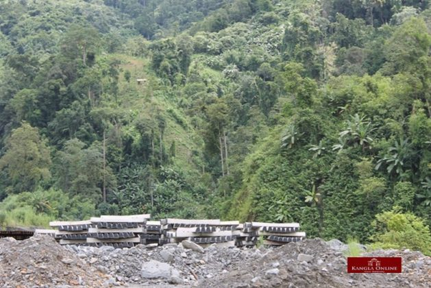 railway project at makru area, tamenglong