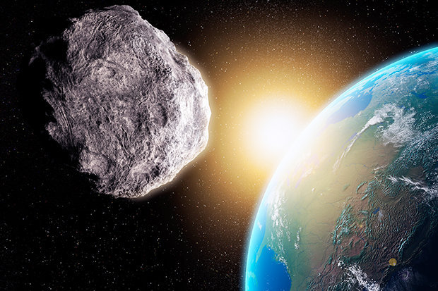 A MASSIVE mile-long asteroid that could wipe out mankind is set to brush past the world within hours.