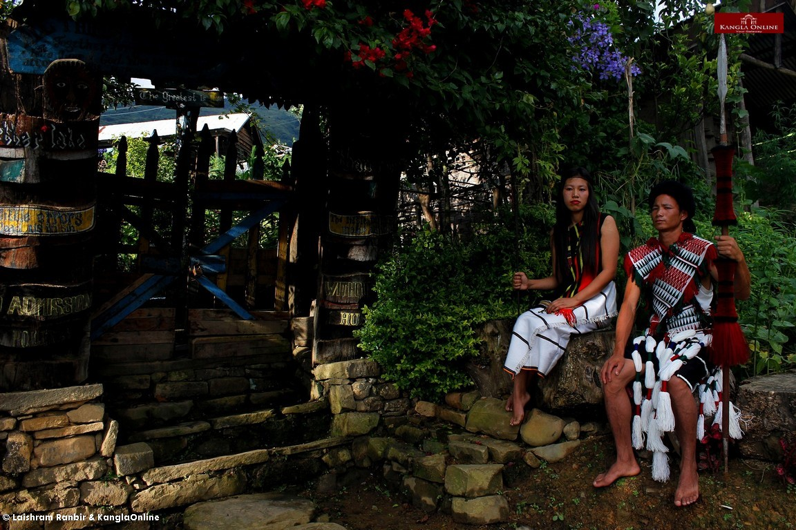 Villagers of Phuba in their traditional attires.