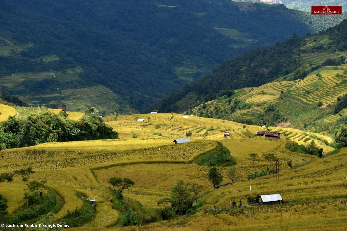 Views and Landscape of Phuba Village which is located under Senapati District of Manipur.