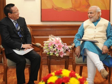 The Chief Minister of Nagaland, Shri T.R. Zeliang calling on the Prime Minister, Shri Narendra Modi, in New Delhi on October 29, 2014.