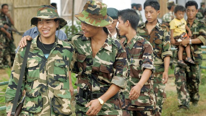 File picture of Naga rebels. (Photo: Reuters)