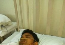 Injured Nipen Kalita (24) s/o Gogen Kalita of Khatkhati, Assam.