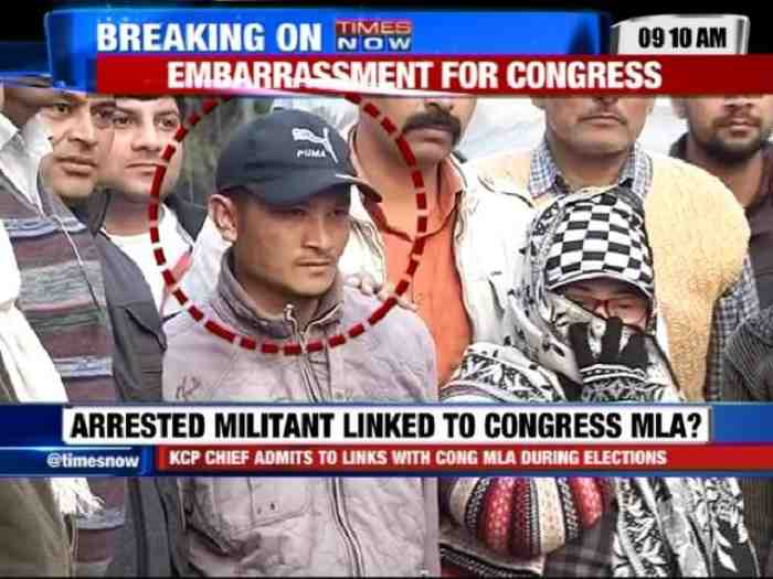 militant with congress leaders