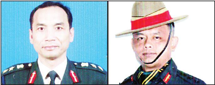 Col N Hemachandra (Left) & Col Ng Chingkheinganba