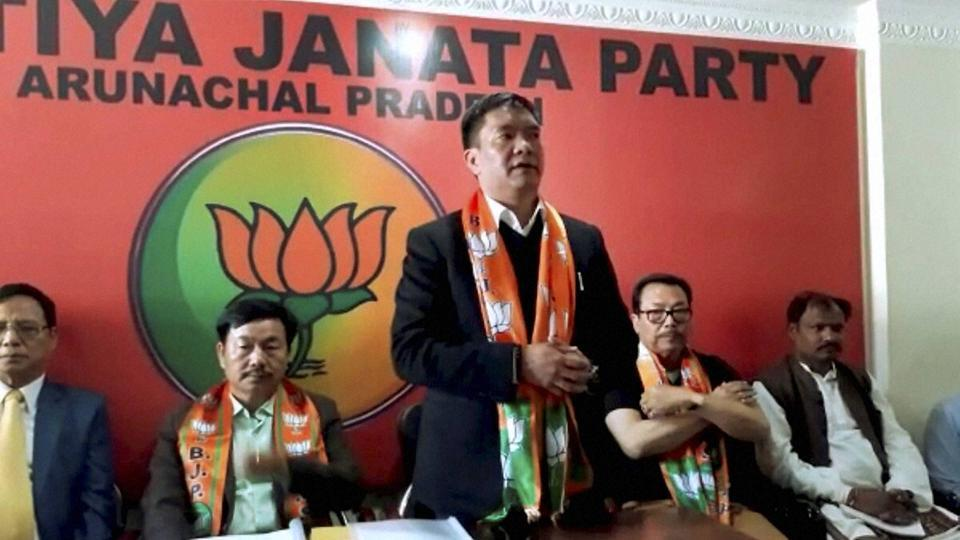 Chief minister of Arunachal Pradesh Pema Khandu at Itanagar in Arunachal Pradesh. There is speculation that the BJP government led by Pema Khandu might frame the rules to check missionary activities. (PTI)