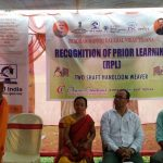 CEO Chanu Creations Smt. Chirom Indira deliver her speech on inauguration function of RPL at Tripura